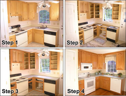 broken fixtures and appliances do a major clean up do a little cabinet refacing or have this done by professional atlanta cabinet resurfacing company